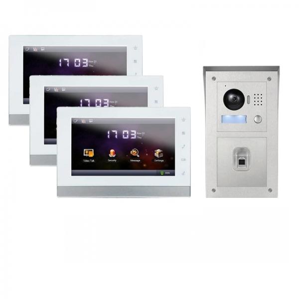 IhrSchutz24 IP Aufputz Türklingel mit Kamera und Fingerprint-Funktion und 3x7