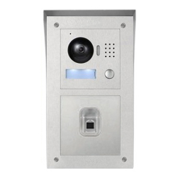 ip video klingelanlage mit 2x7 lcd und aufputz au enstation mit fingerprint 2ipset01f. Black Bedroom Furniture Sets. Home Design Ideas