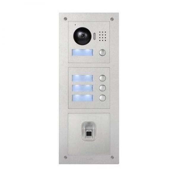 ip video t rsprechanlage f r4 familienhaus mit fingerprint unterputz au enstation und 4x7 lcd. Black Bedroom Furniture Sets. Home Design Ideas