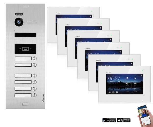 BALTER WLAN Video Türsprechanlage BALTER EVO 2-Draht BUS für 6-Familienhaus mit RFID-Funktion WLAN Video Türsprechanlage BALTER EVO 2-Draht BUS für 6-Familienhaus mit RFID-Funktion