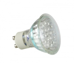 Energiesparlampe 21 LED Warmwei� Spot GU10  1,1W 60� Halogenersatz IS-LED02-21