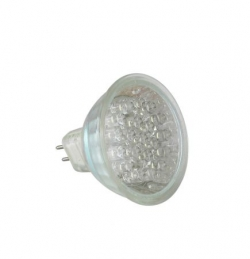 Energiesparlampe 21 LED Warm weiss Spot MR16/GU5.3 1,1W 25� Halogenersatz IS-LED01-21