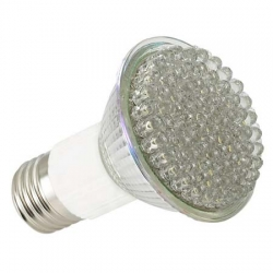 LED Warm Weiss Spot Energiesparlampe  E27 230V 60� 21 LED's - IS-LED03-21