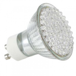 Energiesparlampe 60LED Warmwei�, Kaltwei� Spot GU10 3W 60� Halogenersatz IS-LED02-60