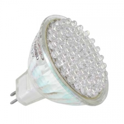 Energiesparlampe 80 LED Warmwei� Spot MR16 4W Halogenersatz GU53 - IS-LED01-80