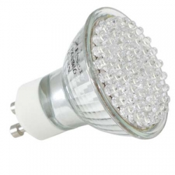 Energiesparlampe 80LED Warmwei�, Kaltwei� Spot GU10 4W 60� Halogenersatz IS-LED02-80