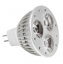 LED Lampe Leuchte Strahler MR16 3W 3x1 Watt LEDs GU5.3 Kaltwei� 200 Lumen - IS-LED01-03c