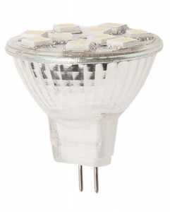 LED SMD Spot Lampe Strahler GU4 MR11 2,2W 9 SMD's Glas Warmwei� / Kaltwei� 120 Lumen - IS-LED08-10
