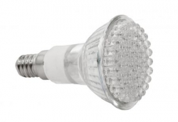 LED Lampe Leuchte Strahler E14 3W 60 LEDs 230V Warmwei� / Kaltwei� 220 Lumen - IS-LED04-60
