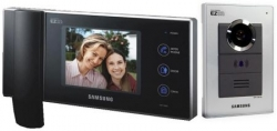 "Samsung Haussprechanlage, Video Gegensprechanlage mit 6"" Farb LCD Monitor mit Unterputz Au�enstation - SAM-04U"